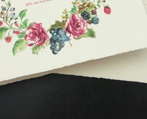 Ein wunderschönes Büttenpapier darf man