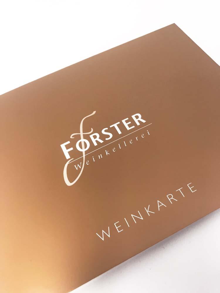 Weinkarte Weinkellerei Forster