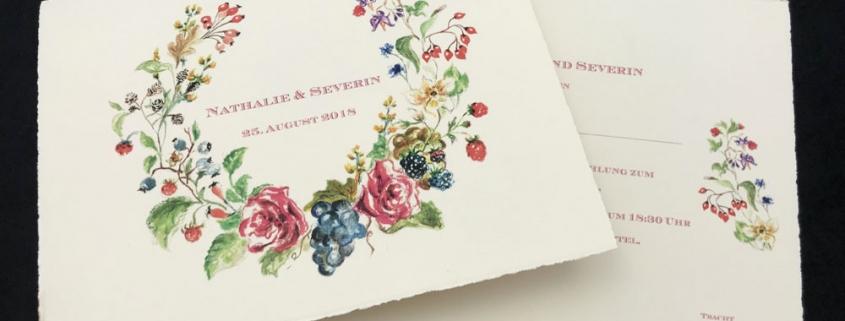 Büttenpapier - Hochzeitseinladung
