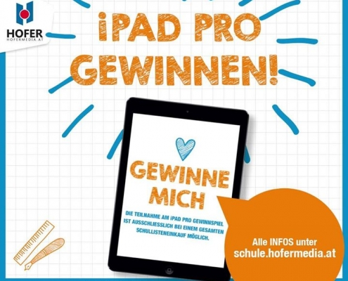 Schullistenservice genießen und iPad Pro gewinnen